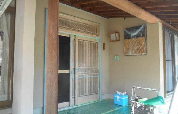 神奈川県藤沢市 外壁塗装 下地処理 高圧洗浄 養生