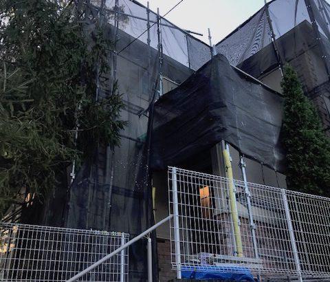 神奈川県藤沢市 外壁塗装 雨樋修理 近隣の方へのご挨拶 足場設置
