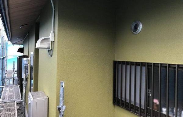 神奈川県藤沢市 外壁塗装 雨樋修理 中塗り 上塗り 日本ペイント パーフェクトトップ ラジカル制御式