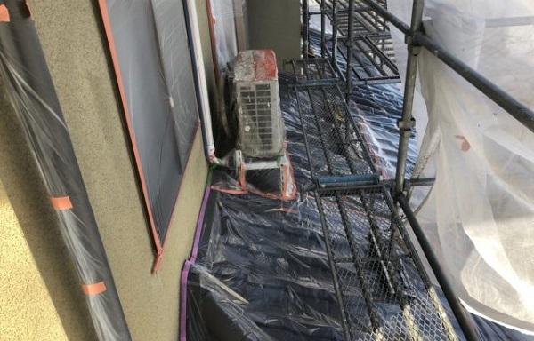 神奈川県茅ヶ崎市 外壁塗装 屋根塗装 下地処理 養生