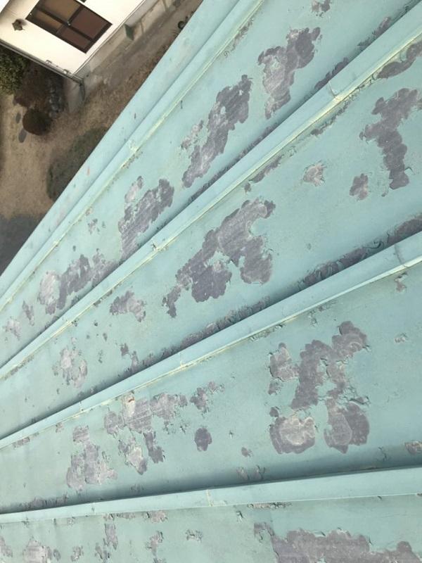 神奈川県藤沢市 屋根塗装 無料診断 見積もり 亜鉛の屋根 (2)