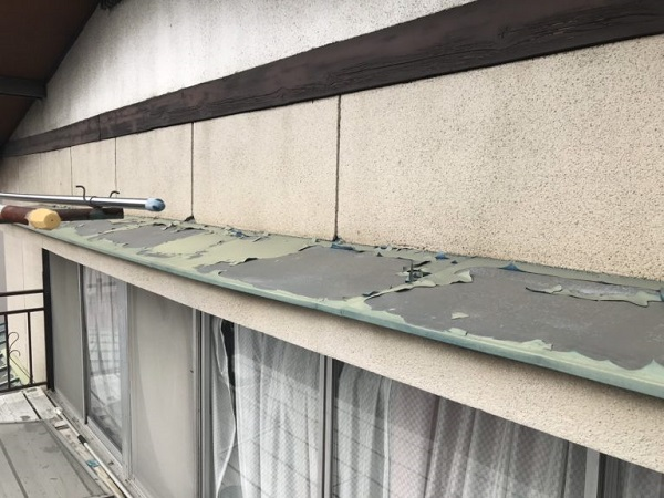 神奈川県藤沢市 屋根塗装 無料診断 見積もり 亜鉛の屋根 (3)